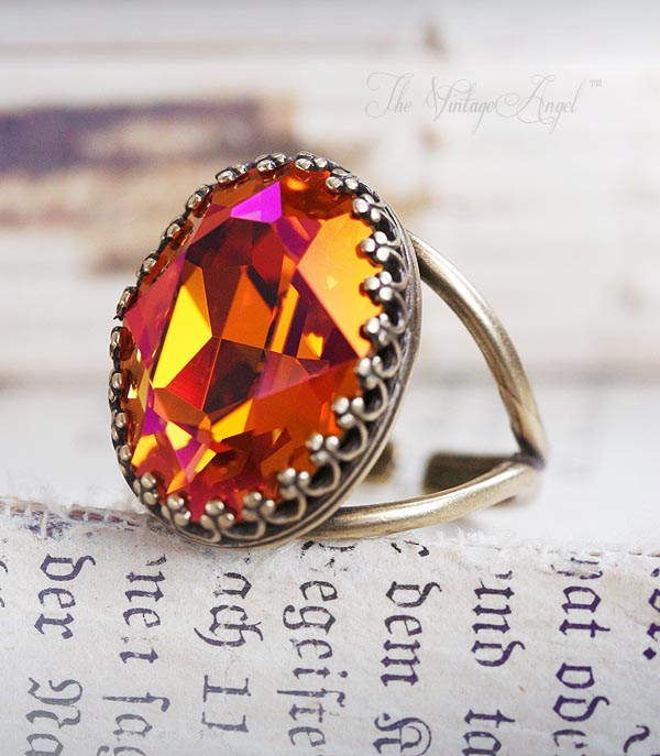 Gypsy Fire Phoenix Cocktail Ring