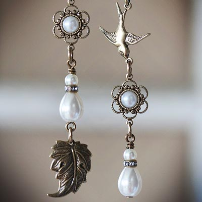Meadowlark Asymmetrical Earrings