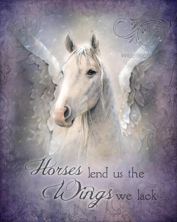 Horses Lend Us Wings Print