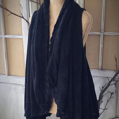 Midnight Knit Ruffle Vest