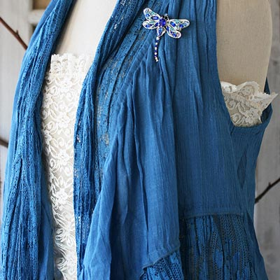 Blue Dream Boho Vest