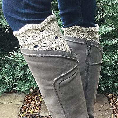 Light Heather Boot Toppers