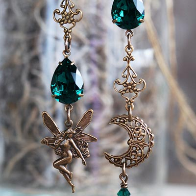 Celtic Fairy Asymmetrical Earrings