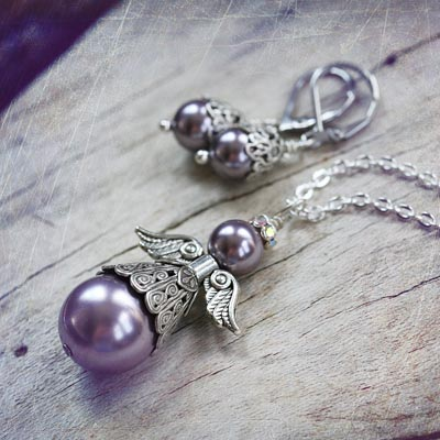 Courage Angel Pearl Set