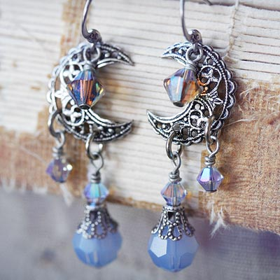 Crystal Moonbeams Earrings