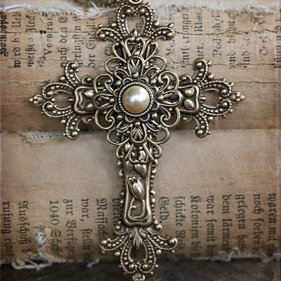 Gilded Cross Necklace