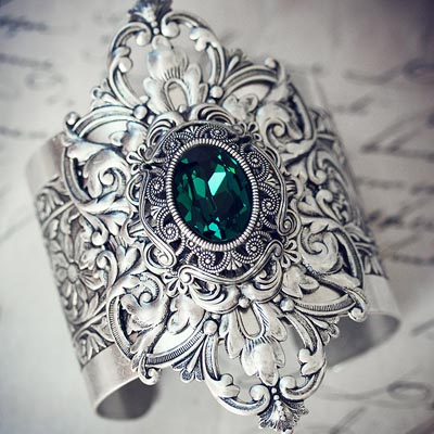 Emerald Dreams Cuff Bracelet