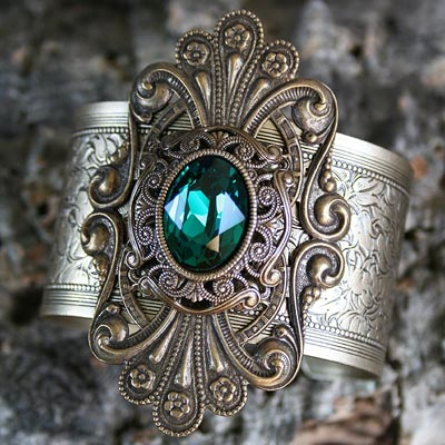 Emerald Sanctuary Cuff