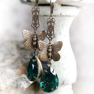 Emerald Sanctuary Earrings