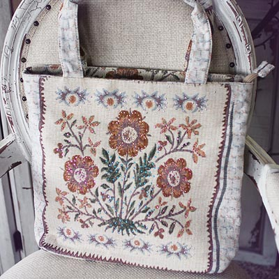 French Bouquet Tote Bag