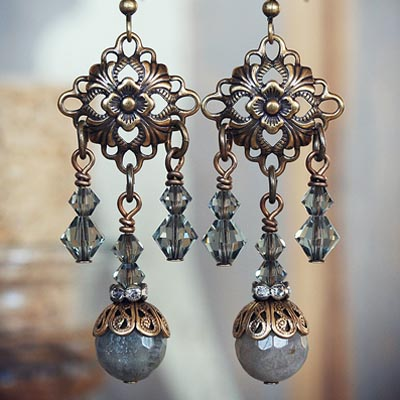 French Grey Earrings