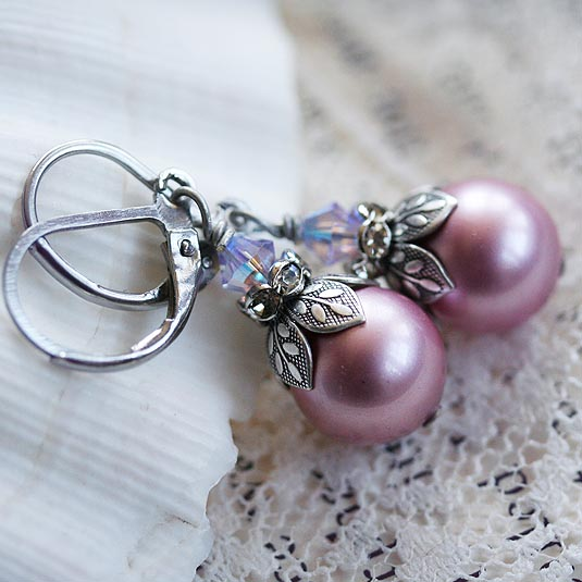 Frosted Orchid Earrings