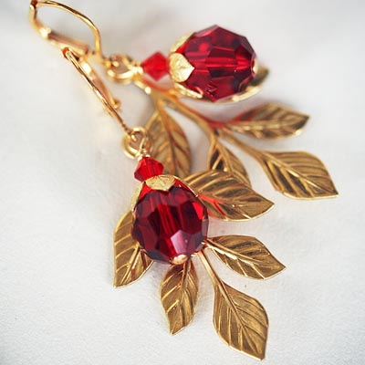 Crimson Garden Earrings