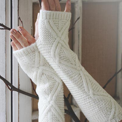 Gilded Ivory Arm Warmers