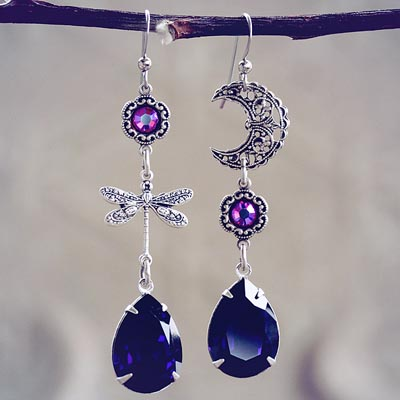 Moon Flight Asymmetrical Earrings