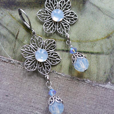 Moonflower Earrings