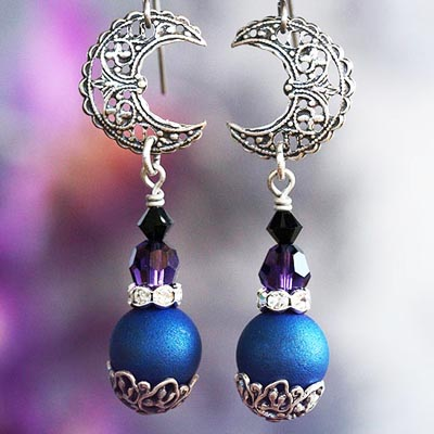 Moonlit Night Earrings