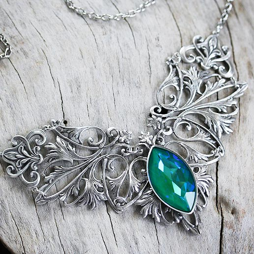 Sea Jewel Necklace in Silver