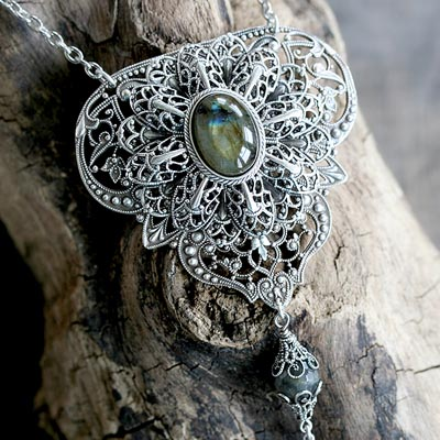 Ornamental Labradorite Necklace
