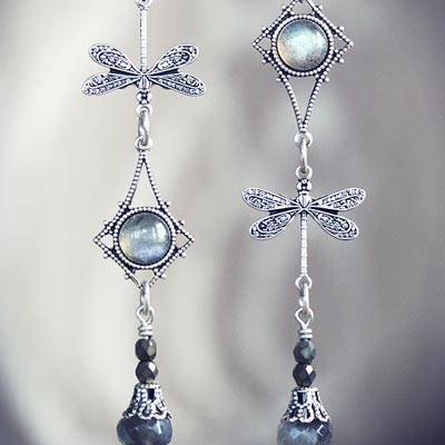 Dragonfly Whispers Asymmetrical Earrings