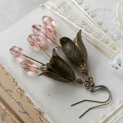 Peach Blossoms Earrings