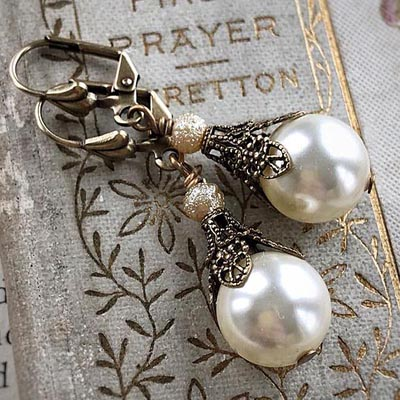 Pearls and Filigree Earrings