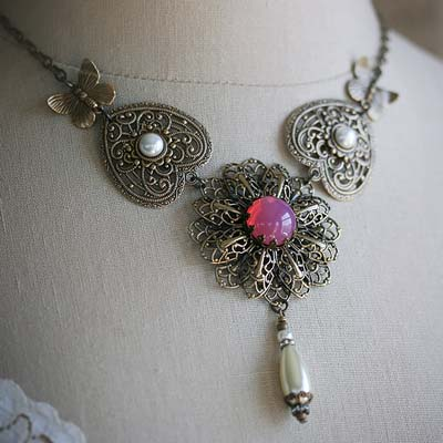 Pink Blossom Necklace