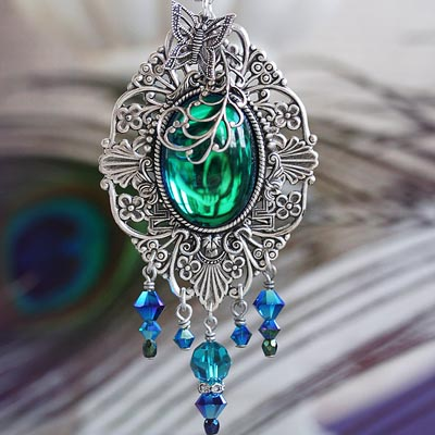 Peacock Jewel Necklace