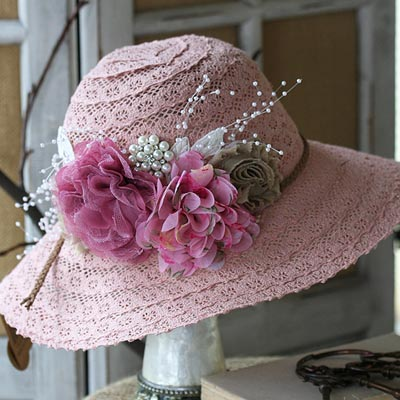 Pretty In Pink Sun Hat