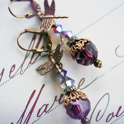 Fantasy in Purple Earrings