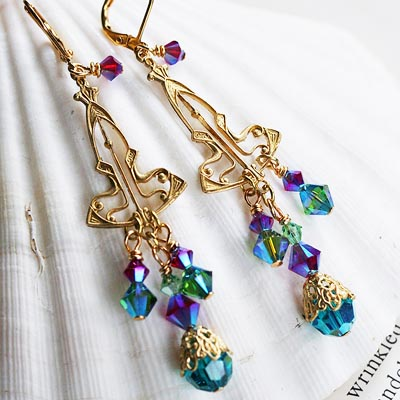 Rainbow Garden Earrings