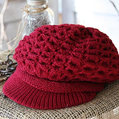 Red Berry Knit Hat