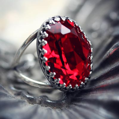 Crimson Passion Ring