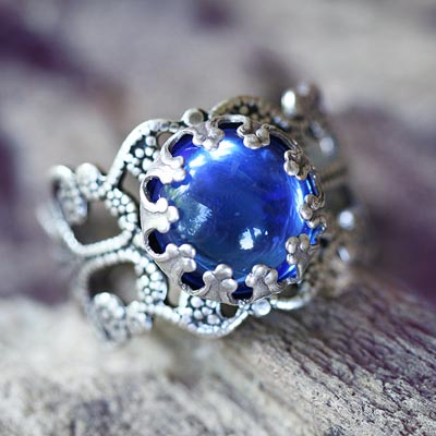 Sapphire Glass Ring