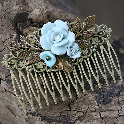 Sea Flowers Hair Comb
