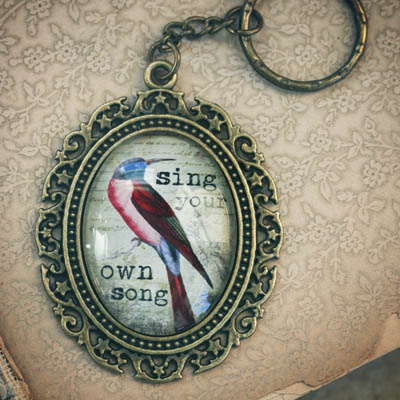 Sing Your Own Song Keychain
