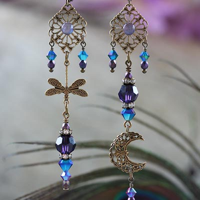 Under A Dragonfly Moon Earrings