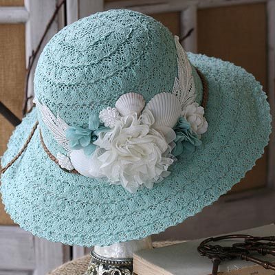Vintage Mermaid Sun Hat