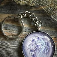 Winged Horse Keychain