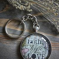 Faith Hope Love Keychain